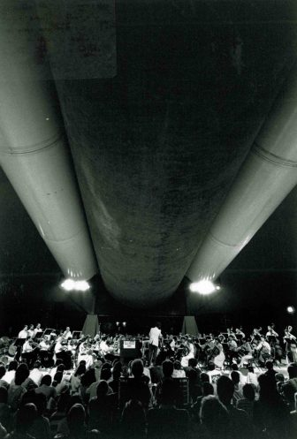July 15 1989 HSO concert under space shuttle